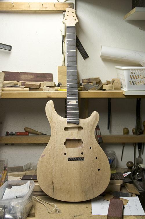 一把prs样式吉他的制作过程(申精)